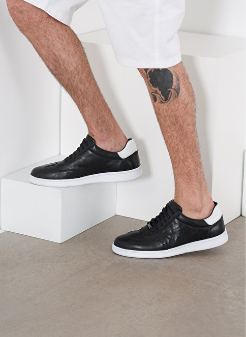 D by Divarese %100 Deri  Sneaker Siyah